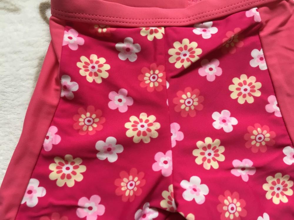 4c8b625a5b Matalan 3-6 hó 62-68 cm erős rózsaszín alapon színes virágmintás lány  fürdőruha