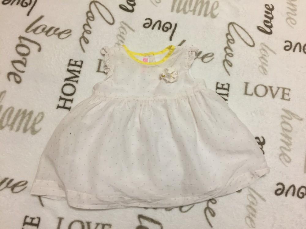 4e6272e8bf My first chicco 3-6 hó 66 cm leheletvékony apró barna pöttyös alsószoknyás lány  ruha