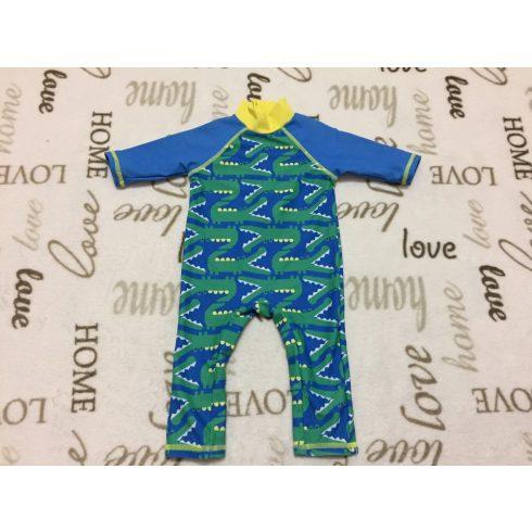 Mini Club 0-3 hó 6,5 kg kék alapon zöld krokodil mintás fiú UV ruha/ úszódressz -újszerű, hibátlan