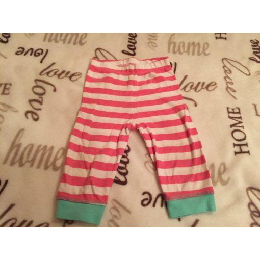 Mothercare 3-6 hó vékony rózsaszín fehér csíkos lány nadrág