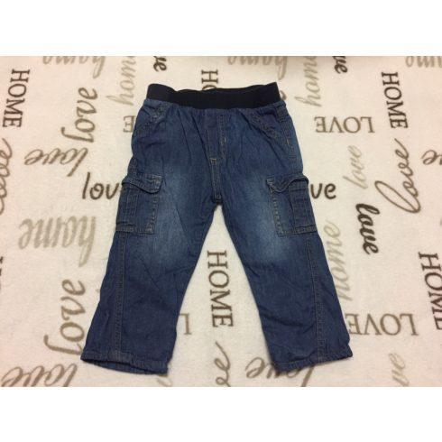Dunnes 9-12 hó 74-80 cm puha farmer anyagú fiú nadrág pamut béléssel -újszerű,hibátlan