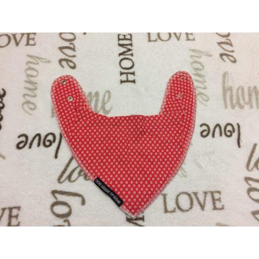 One Little Dribble piros alapon apró fehér mintás  hátul polár lány nyálkendő-újszerű,hibátlan