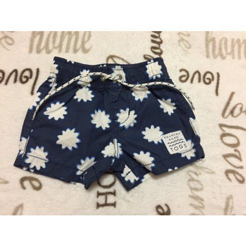 Country Road 0-3 hó 56 - 62 cm kék - fehér vékony anyagú fiú rövidnadrág -újszerű, hibátlan